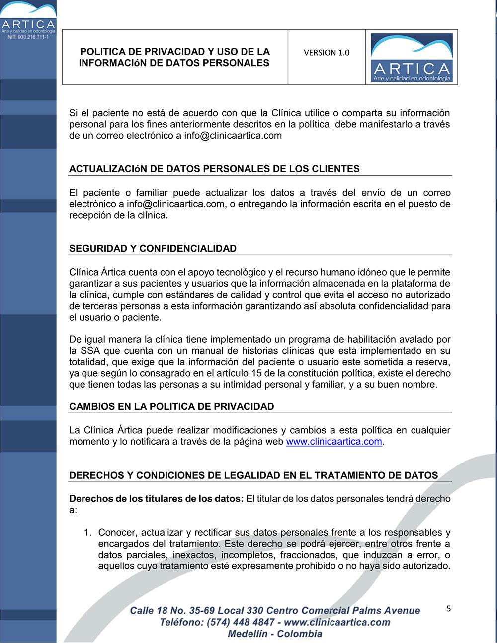 politica-de-privacidad-y-uso-de-datos-personales-clinica-artica-5